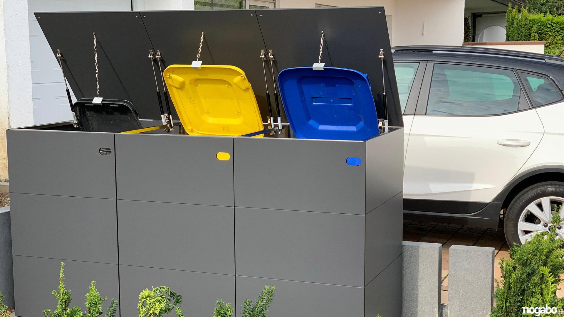 Mülltonnenhaus_Mülltonnenbox_3er Box_240 Liter, 2180 mm x 1160 mm x 840 mm